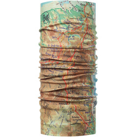 Buff El Camino De Santiago Coolnet UV+ accessori collo beige/verde